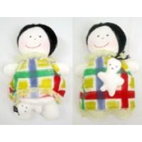 Boneca Mãe Grávida Branca com Bebê