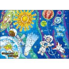 Quebra - cabeça Geog. Espaço Cósmico - MDF - 88 Peças