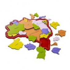 Quebra - cabeças Brasil Estados e Regiões