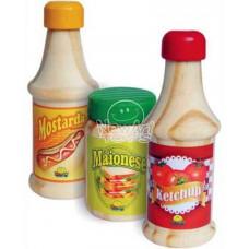Coleção Comidinhas Ketchup, Mostarda e Maionese