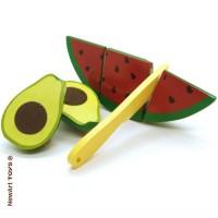 Coleção Comidinhas Kit Frutas com Corte - Melancia e Abacate