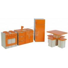 Coleção Casinha Kit Cozinha Laranja