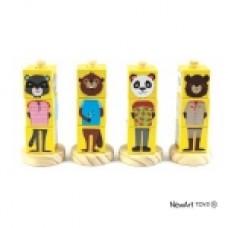 Coleção Cubos Animais Amarelo