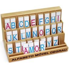 Alfabeto Móvel Degrau - MDF - 130 Peças - PVC Enc.