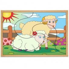 Quebra - cabeça Casal Ovelhas
