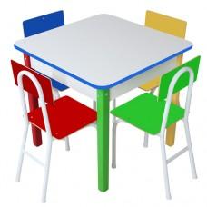 Mesa com 4 Cadeiras de Ferro - 1737