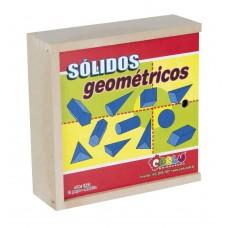 Sólidos Geométricos de Madeira 11 Peças