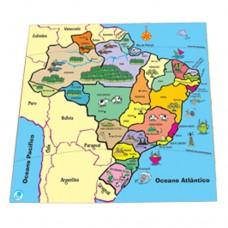 Quebra-Cabeça Mapa - Estados - Ref. 259