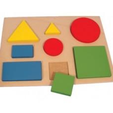 Figuras Geométricas com Encaixe com 9 Peças
