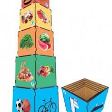 Cubo de Encaixe – Nova Pirâmide Alimentar - Ref. 700