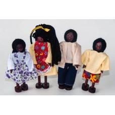 Kit Bonecos Família Negra (4 Bonecos) - PA501