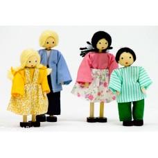 Kit Bonecos Família Branca (4 Bonecos) - PA504