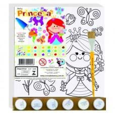 Art Kits Tela Pinta Princesa - 25 X 25 centímetros
