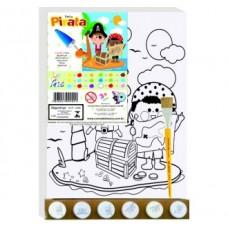 Tela Desenhada Grande com Tinta - Pirata Grande 30x40