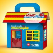 Casinha - Mundo da Arquitetura - Blocos de Montar Engenheiro com 15 Peças Coloridas - Casa de Papel Cartonado
