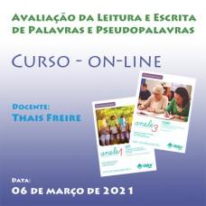 Curso on-line - Avaliação da Leitura e Escrita de Palavras e Pseudopalavras - Coleção ANELE Volumes 1 e 3