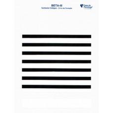 Teste Não Verbal de Inteligência Geral BETA III: Subtestes Raciocínio Matricial e Códigos - Crivo para Correção - Subtestes Código
