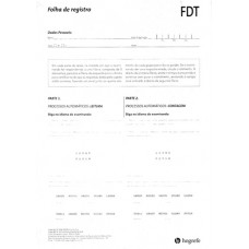 FDT - Five Digit Test - 25 Folhas de Respostas