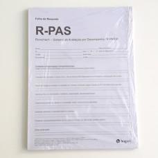 R-PAS - Sistema de Avaliação por Performance no Rorschach - Bloco de Protocolos de Aplicação