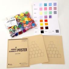 As Pirâmides Coloridas de Pfister - Quadrículos, Cartelas de base e Tabela de cores