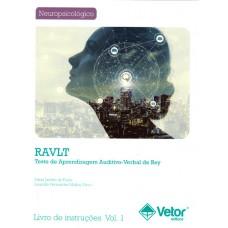RAVLT - Teste de Aprendizagem Auditivo-Verbal de REY - Livro de Instruções Vol. 1