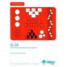 G-36 - Teste Não Verbal de Inteligência - Livro de Instruções Vol. 1 - 7ª Edição